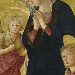 두 천사와 성 요한과 함께 있는 성모와 아기 예수