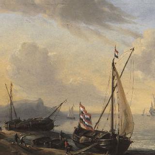 해안가의 배와 작은 배