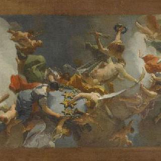 나폴리의 부르봉 가족의 승리 (카스세테 천정화의 초벌화)
