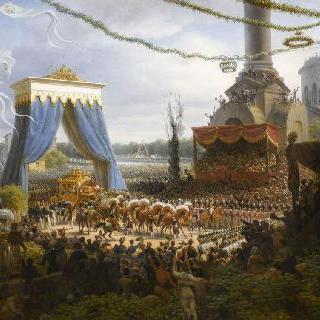 1825년 6월 6일 대관식 후 샤를 10세의 파리 입성