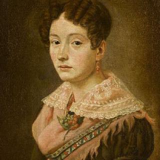 분홍색 숄을 두른 젊은 여인의 초상