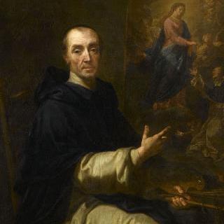 성 도미니크에게 나타난 로사리오의 성모 마리아를 그리는 화가의 초상