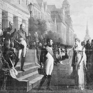 1807년 7월 6일 틸시트에서의 나폴레옹 1세와 프러시아 루이즈 여왕의 대담