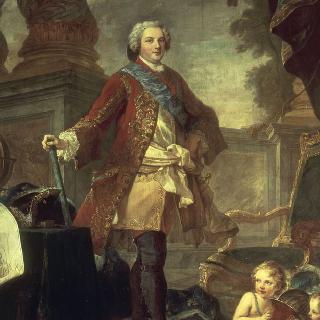 투르네이 점령 작전 직전의 루이 드 프랑스, 왕태자. 루이 15세의 아들,
