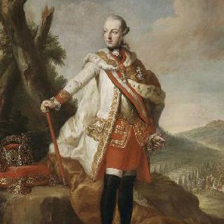 신성 로마 제국의 황제 조제프 2세의 황금 양털 훈장을 단 초상