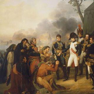 1808년 12월 3일 도시 대표단을 맞이하는 마드리드 앞의 나폴레옹 1세 황제
