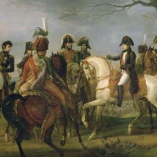 1805년 12월 2일 아우스터리츠 전투 전 명령을 내리는 나폴레옹 1세