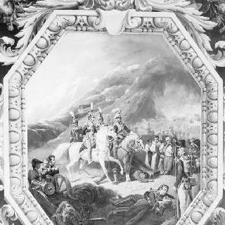 1808년 11월 30일 소모 시에라 전투 : 포로들을 수용하는 크라신스키 장군