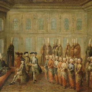 콘스탄티노플의 베네치아 대사와 술탄 마호메드 1세의 면담