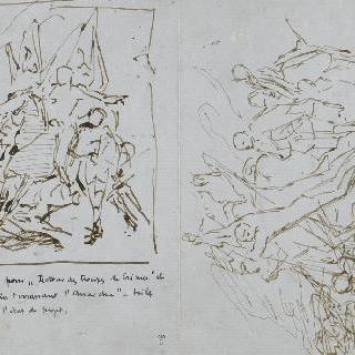 루브르 박물관 드농관 장식을 위한 이중 습작