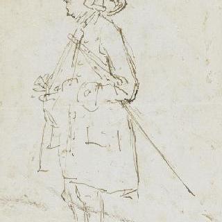 18세기 의상을 입은 인물