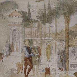 1859년 피사의 캄포 산토 복제화
