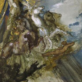 아폴론과 보레아스. 라 퐁텐 우화 초벌화