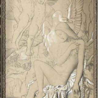 레다 그림 밑그림