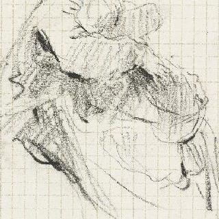 무릎에 아이를 올려 놓은 앉아 있는 어머니
