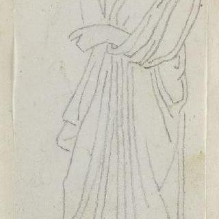 크로키 화첩 : 고대식으로 긴옷을 둘러입은 남자 프로필