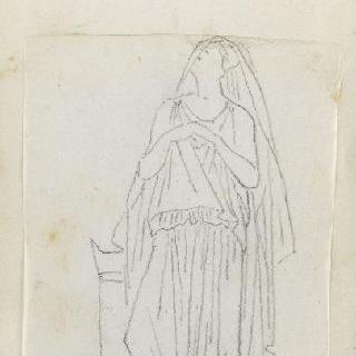 크로키 화첩 : 고대풍으로 몸을 감싼 서 있는 여인