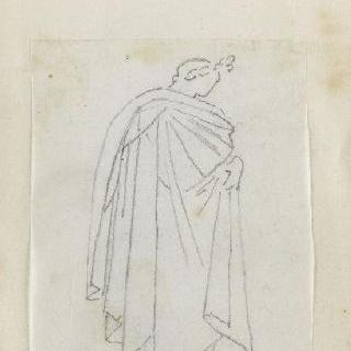 크로키 화첩 : 고대풍으로 몸을 감싼 인물 옆 얼굴
