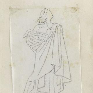 크로키 화첩 : 고대풍으로 몸을 감싼 서 있는 남자