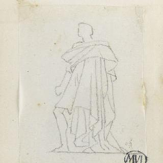 크로키 화첩 : 고대풍의 긴 옷을 둘러 입은 남자