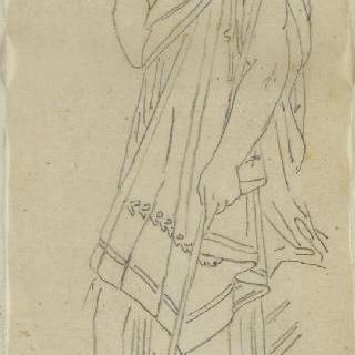 크로키 화첩 : 고대풍으로 몸을 감싼 청년의 옆 얼굴