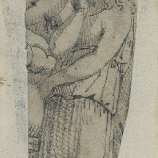 크로키 화첩 : 고대풍으로 몸을 감싼 여자
