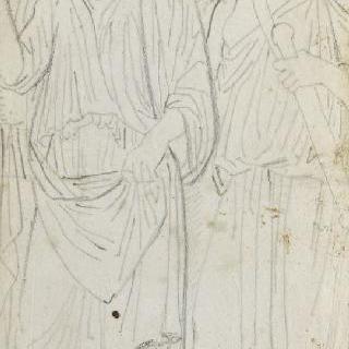 크로키 화첩 : 고대풍으로 몸을 감싼 서 있는 남자들