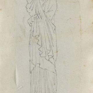 크로키 화첩 : 고대풍의 긴옷을 둘러입은 여자