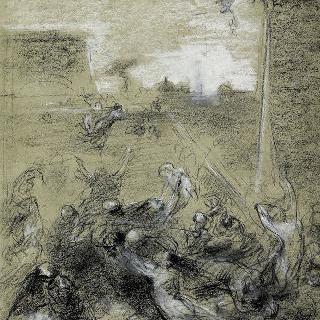 들라크루아 풍의 헤롯왕에게 학살당하는 아기들