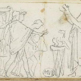 크로키 화첩 : 고대의 모티프가 있는 장면 () : 희생제 장면 ()