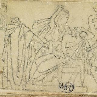 크로키 화첩 : 고대의 모티프가 있는 장면 () : 암살 ()