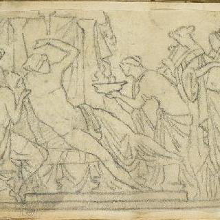 크로키 화첩 : 고대의 모티프가 있는 장면 ()