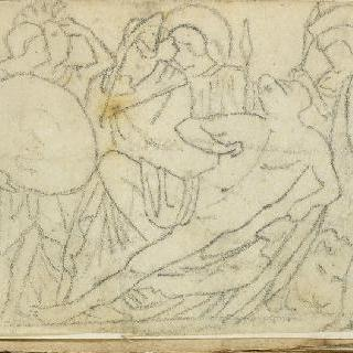 크로키 화첩 : 고대의 모티프가 있는 장면