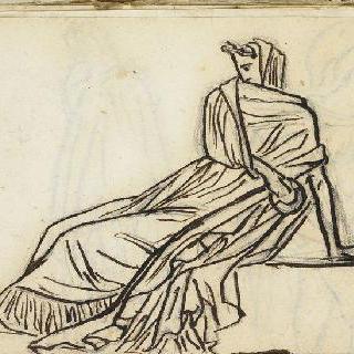 크로키 화첩 : 고대풍으로 몸을 감싼 여인 습작