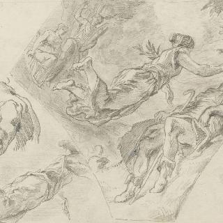 누마 폼필리우스와 요정 에제리, 팔레 부르봉의 문 상부 아치를 위한 습작