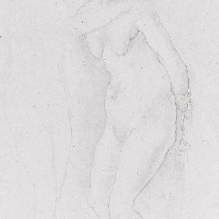 루카 시그노렐리의 데생풍의 복제화 (피렌체의 우피치 미술관)