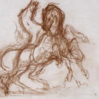 디오메데스의 물어뜯는 두 마리의 말 습작