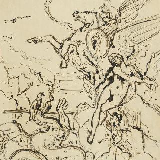 밑그림 81-3. 페르세우스와 안드로메다 작품 습작