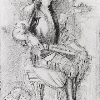 바사리풍의 메디치가의 인물 초상 복제화  (피렌체의 우피치 미술관)