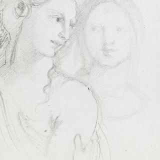 여인들의 두 개의 두상 복제화