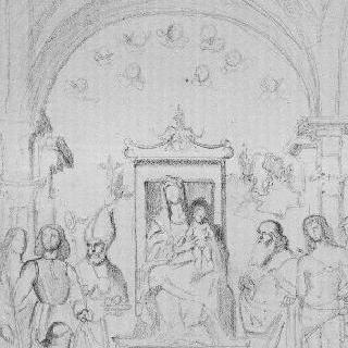 벨리니풍의 복제화 (성모와 성자들, 베네치아 학파)