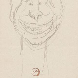 풍자화 : 남자 얼굴 앞모습