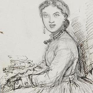앉아있는 알렉산드린 뒤뢰의 초상