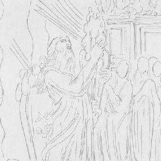 노아의 방주 앞에서 춤추는 다윗