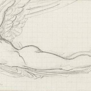 플랙스만풍의 날개달린 남자 복제화