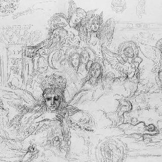 예술풍의 제우스와 세멜레의 인물