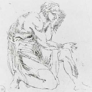 미노타우로스의 제물이 된 아테네인들 습작