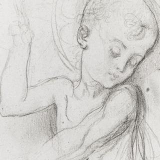 어머니를 축복하는 아기 예수 습작