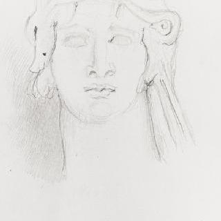 고대풍의 헤라클레스의 두상 복제화