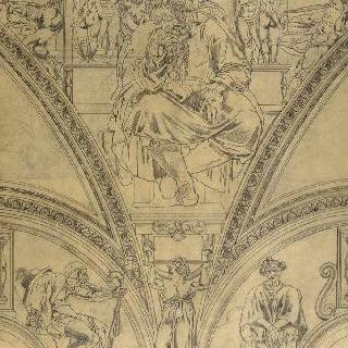 미켈란젤로풍의 복제화 (예언자 제레미, 바티칸 식스틴 예배당)